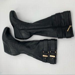 Calvin Klein Saxon Sz. 10 wedge tall boot